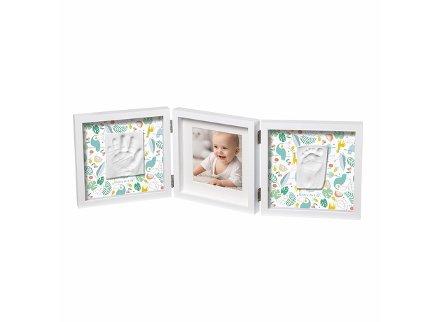 Рамочка тройная «Baby Style» с 2 цветными двусторонними подложками, белая Baby Art, фото