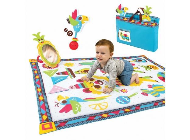 Развивающий коврик-сумка Yookidoo XL «Фиеста», фото , изображение 2