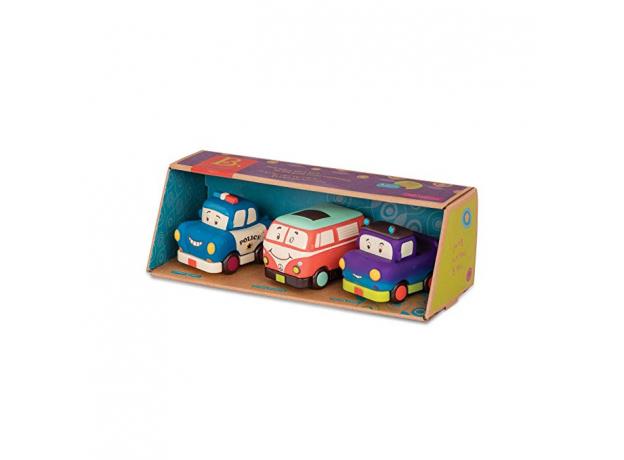 Набор инерционных машинок B.Toys (Battat) «Мадди Майлс, Груви Патутти, Офицер Лоули»: 3 шт., фото , изображение 2