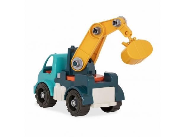 Игрушка-конструктор B.Toys (Battat) «Кран»: 34 элемента, фото , изображение 3