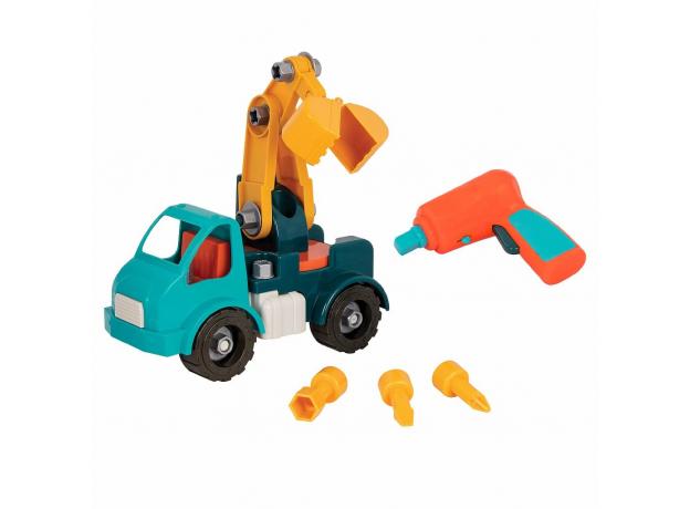 Игрушка-конструктор B.Toys (Battat) «Кран»: 34 элемента, фото , изображение 5