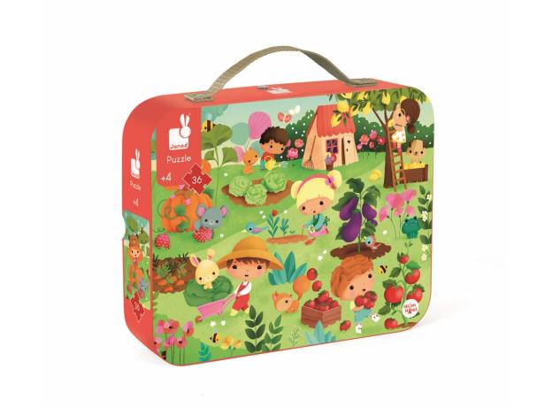 Пазл «Сад» в прямоугольном чемоданчике; 36 элементов, фото , изображение 2