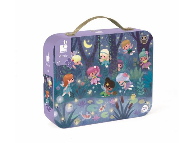 Пазл в прямоугольном чемоданчике Janod «Маленькие феи»; 36 элементов, фото , изображение 2