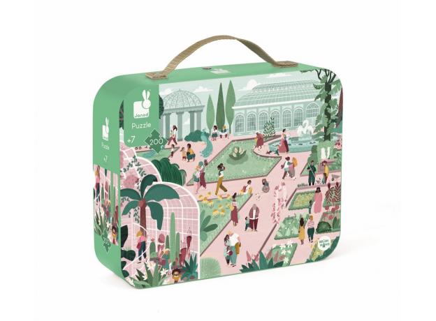Пазл в прямоугольном чемоданчике Janod «Ботанический Сад»; 200 элементов, фото , изображение 2