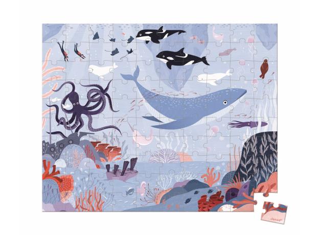 Пазл в прямоугольном чемоданчике Janod «Северный Ледовитый океан»; 100 элементов, фото