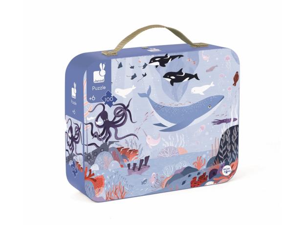 Пазл в прямоугольном чемоданчике Janod «Северный Ледовитый океан»; 100 элементов, фото , изображение 2