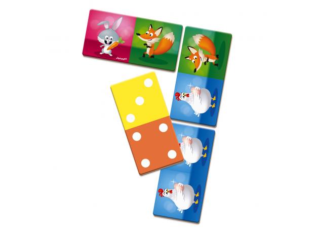 Настольная игра домино Janod «Веселые животные», фото , изображение 3
