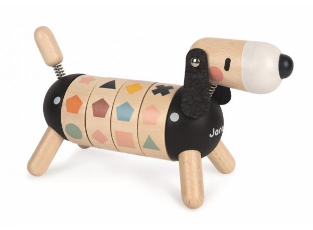 Развивающая игрушка Janod «Собачка. Учу цвета и формы»; серия«Sweet Cocoon», фото