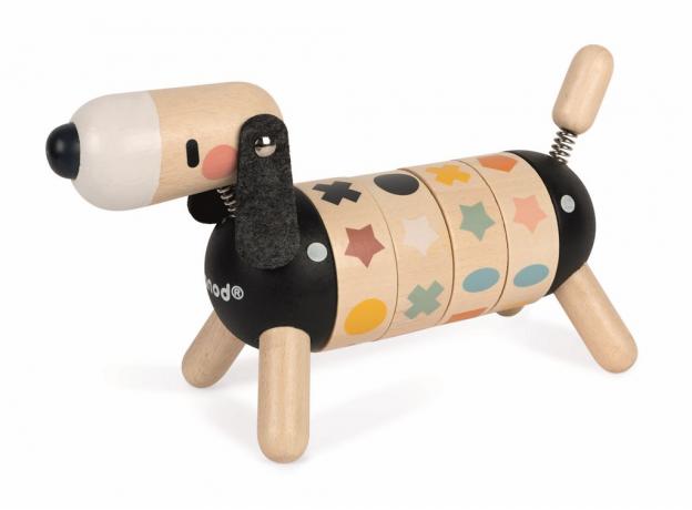 Развивающая игрушка Janod «Собачка. Учу цвета и формы»; серия«Sweet Cocoon», фото , изображение 2