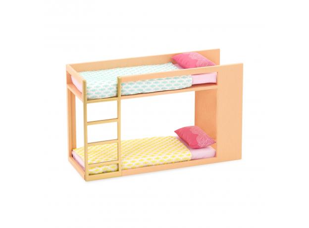 Игровой набор Lori «Двуярусная кровать» с аксессуарами, фото , изображение 2