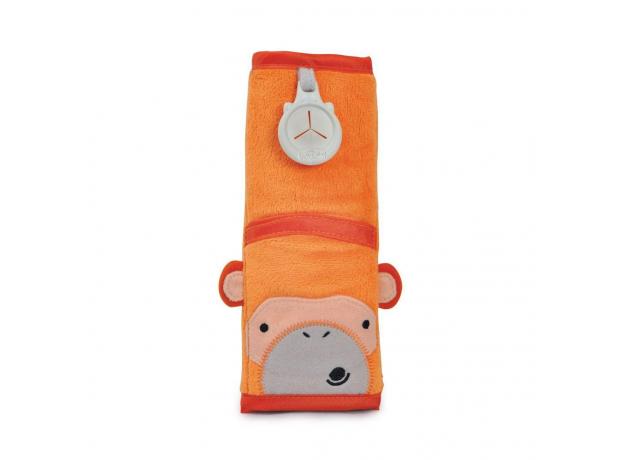 TRUNKI Накладка-чехол для ремня безопасности в авто, обезьянка, оранжевый 0107-GB01, фото