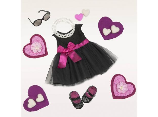 Комплект одежды для куклы Our Generation ДеЛюкс с черным платьем и жемчужным ожерельем, фото