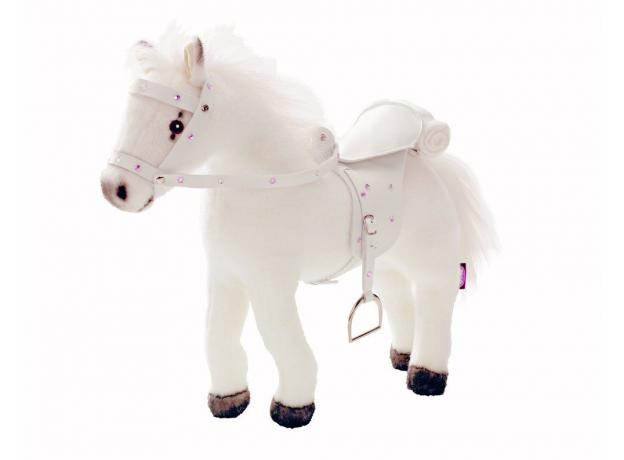 Gotz Белая лошадь, с седлом и уздечкой, со звуком 3401485, фото
