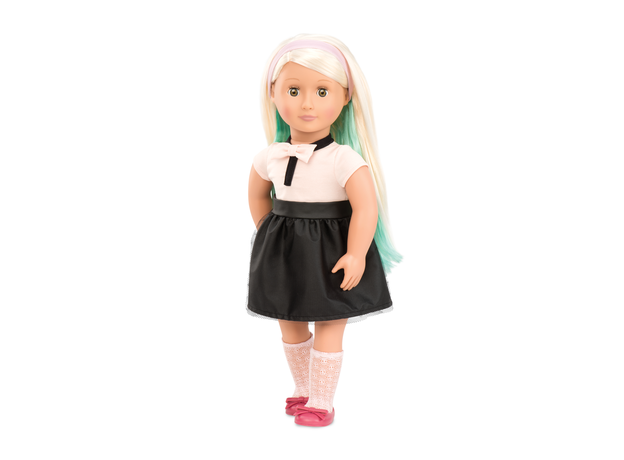 Кукла 46 см Our Generation ДеЛюкс Амайя с мелками для волос и аксессуарами, фото