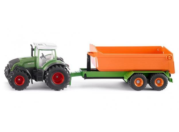 SIKU Трактор Fendt с крюковым прицепом-кузовом 1989, фото