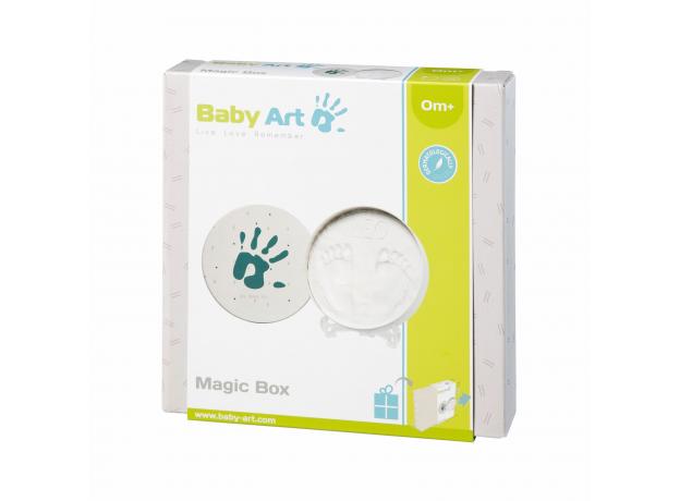 Коробочка для создания отпечатка Baby Art «Мэджик бокс» круглая, фото , изображение 3