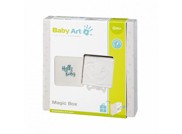 Коробочка для создания отпечатка Baby Art «Мэджик бокс» квадратная, фото , изображение 3