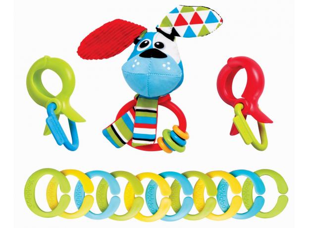 Игровой набор с погремушками и колечками Yookidoo «Собачка», фото
