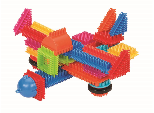 Конструктор игольчатый в чемодане Bristle Blocks (Battat), 113 деталей, фото , изображение 3
