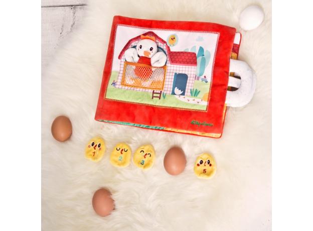 Книжка мягкая Lilliputiens «Курочка Полетт ищет своих цыплят», фото