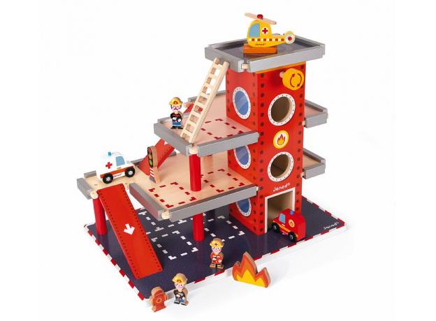 Игровой набор Janod «Пожарная станция» большой, фото , изображение 8