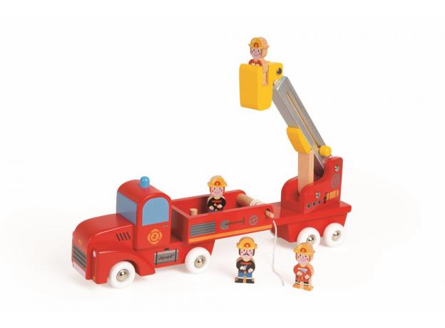 Большая пожарная машина Janod с 4 пожарными, фото , изображение 4