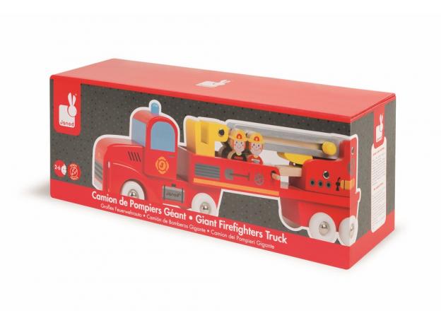 Большая пожарная машина Janod с 4 пожарными, фото , изображение 6