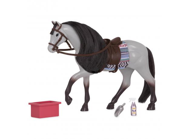 Лошадь породы «Роанская голубая» Lori с аксессуарами, фото