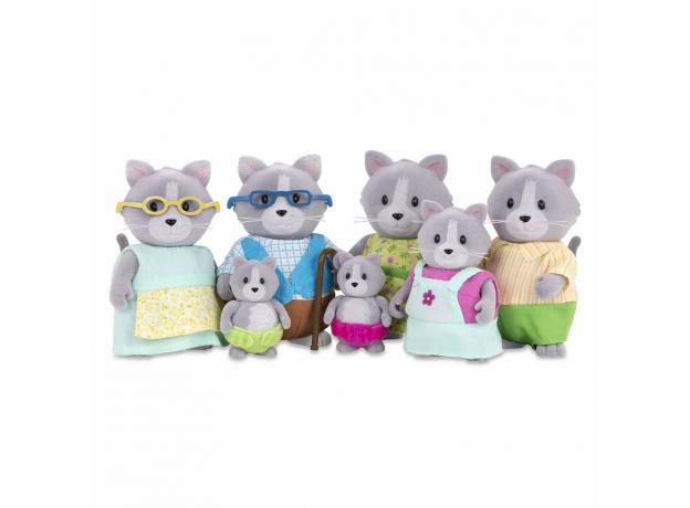 Игровой набор Li'l Woodzeez «Семья кошек»; большой, фото