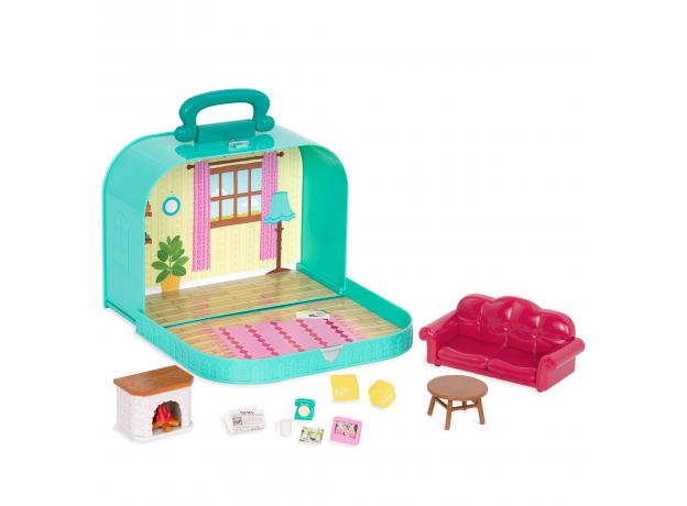Игровой набор в чемоданчике Li'l Woodzeez «Гостинная», фото