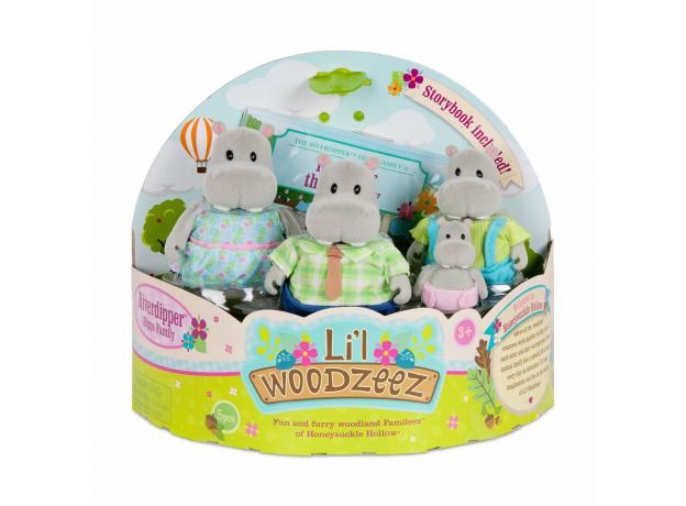 Игровой набор Li'l Woodzeez «Семья бегемотов», фото , изображение 4