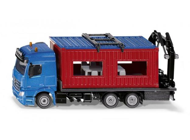 SIKU Грузовик Mercedes-Benz Arocs со строительным контейнером 3556, фото