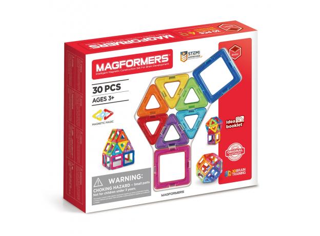 Магнитный конструктор MAGFORMERS 701005 Набор 30/Rainbow, фото