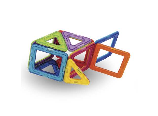 Магнитный конструктор MAGFORMERS 701005 Набор 30/Rainbow, фото , изображение 11