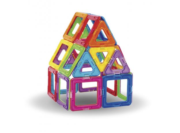 Магнитный конструктор MAGFORMERS 701005 Набор 30/Rainbow, фото , изображение 4