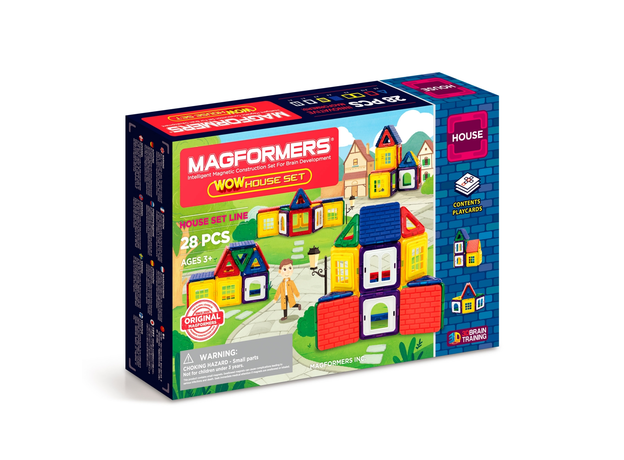 Магнитый конструктор MAGFORMERS 705007 WOW House set 28, фото