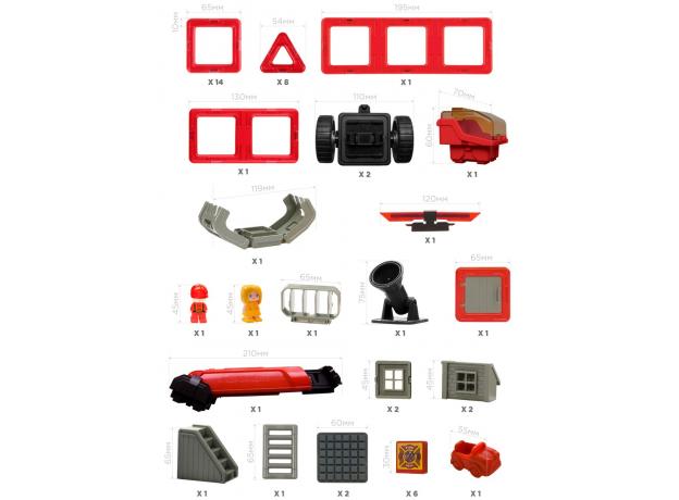 Магнитный конструктор MAGFORMERS 717003 Amazing Rescue Set, фото , изображение 16