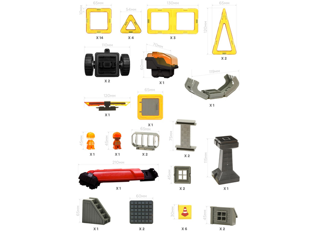 Магнитный конструктор MAGFORMERS 717004 Amazing Construction Set, фото , изображение 23