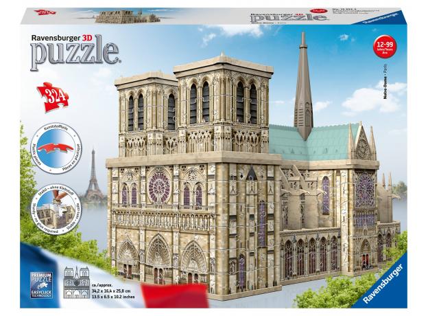 RAVENSBURGER 3D Пазл «Нотр Дам», 216 эл. 12524, фото