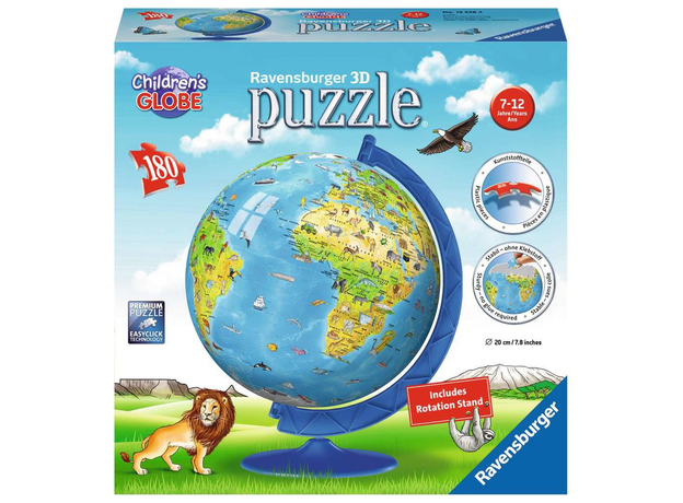"RAVENSBURGER 3D Пазл ""Глобус. Детский мир"", 180 эл. 12338, фото"