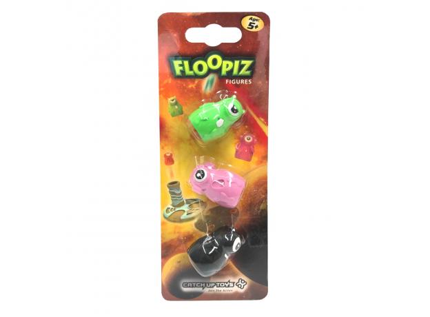 Доп. набор CATCHUP TOYS FP-002F-KPD Floopiz Figures (Black, Pink, Green), фото