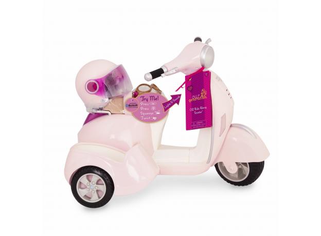 Скутер с коляской и настоящим FM-радио, фото