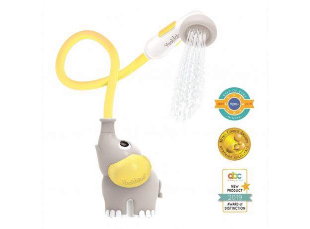 Игрушка для ванны Yookidoo душ «Слоненок»; серый с желтым, фото