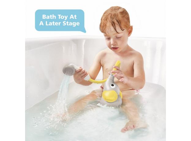 Игрушка для ванны Yookidoo душ «Слоненок»; серый с желтым, фото , изображение 10