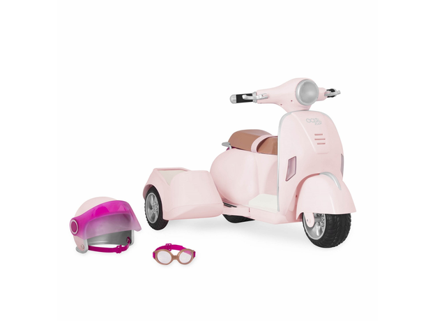 Скутер с коляской и настоящим FM-радио, фото , изображение 2