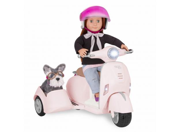 Скутер с коляской и настоящим FM-радио, фото , изображение 12