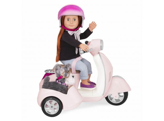 Скутер с коляской и настоящим FM-радио, фото , изображение 4