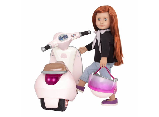Скутер с коляской и настоящим FM-радио, фото , изображение 9
