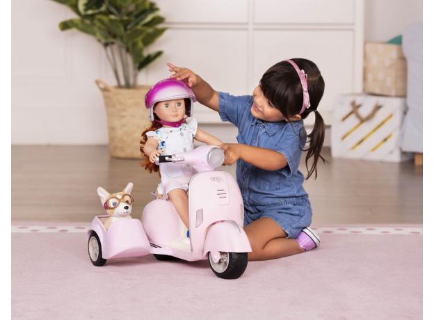 Скутер с коляской и настоящим FM-радио, фото , изображение 10