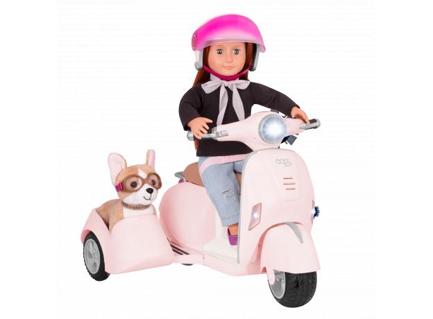 Скутер с коляской и настоящим FM-радио, фото , изображение 3
